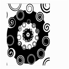 Fluctuation Hole Black White Circle Small Garden Flag (two Sides)