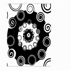 Fluctuation Hole Black White Circle Large Garden Flag (two Sides)