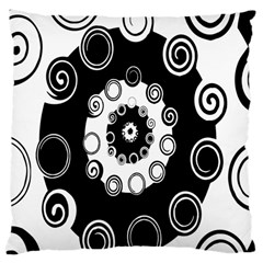Fluctuation Hole Black White Circle Large Cushion Case (one Side)