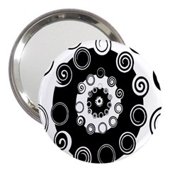 Fluctuation Hole Black White Circle 3  Handbag Mirrors
