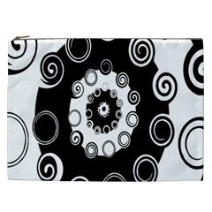 Fluctuation Hole Black White Circle Cosmetic Bag (xxl)