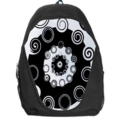 Fluctuation Hole Black White Circle Backpack Bag