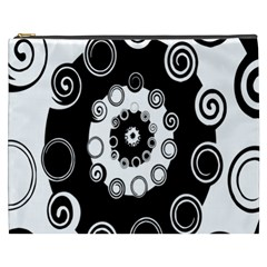 Fluctuation Hole Black White Circle Cosmetic Bag (xxxl)