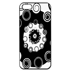 Fluctuation Hole Black White Circle Apple Iphone 5 Seamless Case (black)