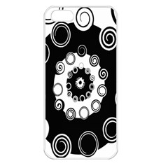 Fluctuation Hole Black White Circle Apple Iphone 5 Seamless Case (white)