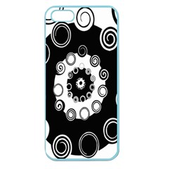 Fluctuation Hole Black White Circle Apple Seamless Iphone 5 Case (color)