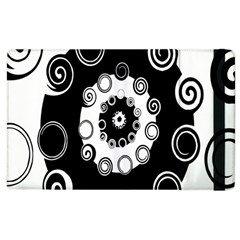 Fluctuation Hole Black White Circle Apple Ipad 3/4 Flip Case