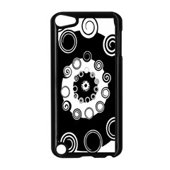 Fluctuation Hole Black White Circle Apple Ipod Touch 5 Case (black)