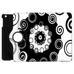 Fluctuation Hole Black White Circle Apple Ipad Mini Flip 360 Case