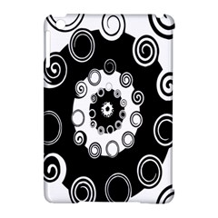 Fluctuation Hole Black White Circle Apple Ipad Mini Hardshell Case (compatible With Smart Cover)