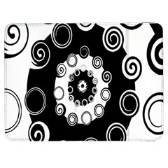 Fluctuation Hole Black White Circle Samsung Galaxy Tab 7  P1000 Flip Case