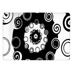 Fluctuation Hole Black White Circle Samsung Galaxy Tab 10 1  P7500 Flip Case