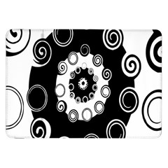Fluctuation Hole Black White Circle Samsung Galaxy Tab 8 9  P7300 Flip Case