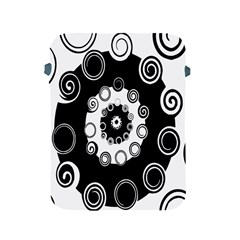 Fluctuation Hole Black White Circle Apple Ipad 2/3/4 Protective Soft Cases