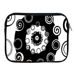 Fluctuation Hole Black White Circle Apple Ipad 2/3/4 Zipper Cases