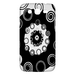 Fluctuation Hole Black White Circle Samsung Galaxy Mega 5 8 I9152 Hardshell Case