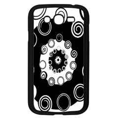 Fluctuation Hole Black White Circle Samsung Galaxy Grand Duos I9082 Case (black)
