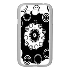 Fluctuation Hole Black White Circle Samsung Galaxy Grand Duos I9082 Case (white)