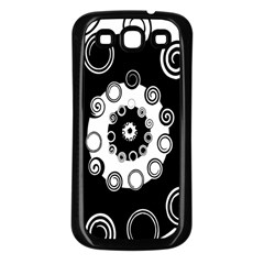 Fluctuation Hole Black White Circle Samsung Galaxy S3 Back Case (black)