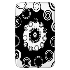 Fluctuation Hole Black White Circle Samsung Galaxy Tab 3 (8 ) T3100 Hardshell Case