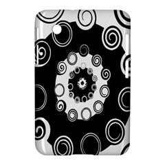 Fluctuation Hole Black White Circle Samsung Galaxy Tab 2 (7 ) P3100 Hardshell Case