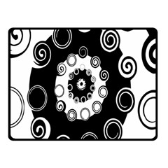 Fluctuation Hole Black White Circle Double Sided Fleece Blanket (small)