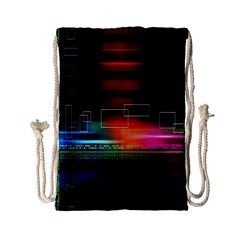 Abstract Binary Drawstring Bag (small) by Simbadda