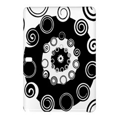 Fluctuation Hole Black White Circle Samsung Galaxy Tab Pro 10 1 Hardshell Case