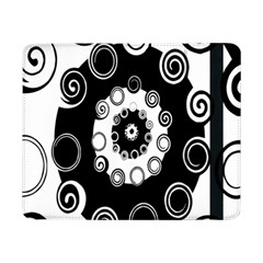 Fluctuation Hole Black White Circle Samsung Galaxy Tab Pro 8 4  Flip Case