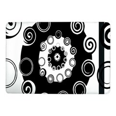 Fluctuation Hole Black White Circle Samsung Galaxy Tab Pro 10 1  Flip Case