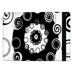 Fluctuation Hole Black White Circle Samsung Galaxy Tab Pro 12 2  Flip Case by Alisyart