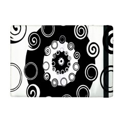 Fluctuation Hole Black White Circle Ipad Mini 2 Flip Cases