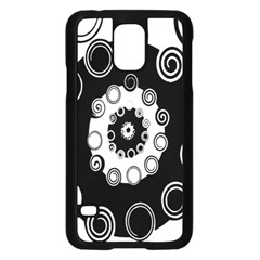 Fluctuation Hole Black White Circle Samsung Galaxy S5 Case (black)
