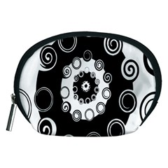 Fluctuation Hole Black White Circle Accessory Pouches (medium)