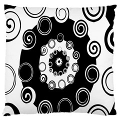 Fluctuation Hole Black White Circle Standard Flano Cushion Case (two Sides)