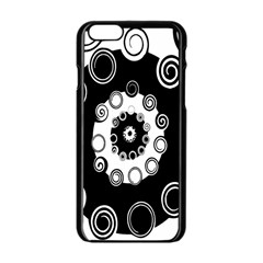 Fluctuation Hole Black White Circle Apple Iphone 6/6s Black Enamel Case