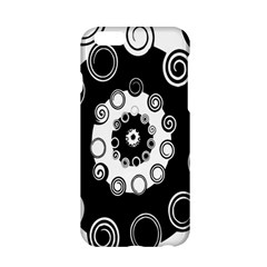 Fluctuation Hole Black White Circle Apple Iphone 6/6s Hardshell Case