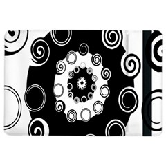 Fluctuation Hole Black White Circle Ipad Air 2 Flip