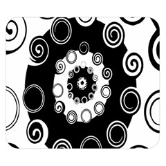 Fluctuation Hole Black White Circle Double Sided Flano Blanket (small)