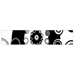 Fluctuation Hole Black White Circle Flano Scarf (small)