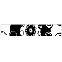 Fluctuation Hole Black White Circle Flano Scarf (large)