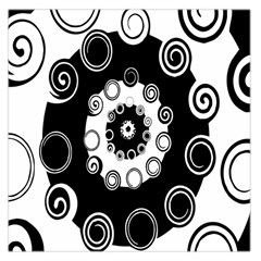 Fluctuation Hole Black White Circle Large Satin Scarf (square)