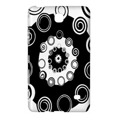 Fluctuation Hole Black White Circle Samsung Galaxy Tab 4 (8 ) Hardshell Case