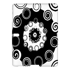 Fluctuation Hole Black White Circle Samsung Galaxy Tab S (10 5 ) Hardshell Case