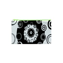 Fluctuation Hole Black White Circle Cosmetic Bag (xs)