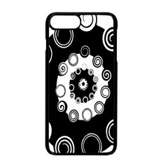 Fluctuation Hole Black White Circle Apple Iphone 7 Plus Seamless Case (black)