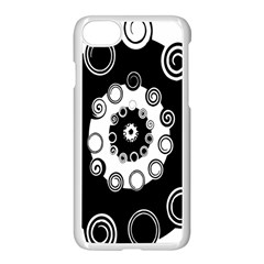 Fluctuation Hole Black White Circle Apple Iphone 7 Seamless Case (white)