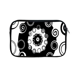 Fluctuation Hole Black White Circle Apple Macbook Pro 13  Zipper Case