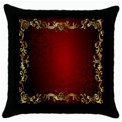 3d Red Abstract Pattern Throw Pillow Case (black) by Simbadda
