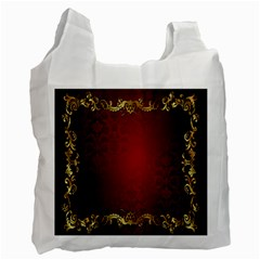 3d Red Abstract Pattern Recycle Bag (one Side)